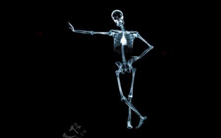 搞笑的骷髅摆poss