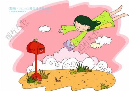 儿童科技韩国花纹时尚花纹底纹矢量素材矢量图片HanMaker韩国设计素材库