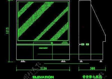 电视机图块视听设备图块影院音响组合图块电脑CAD图块20