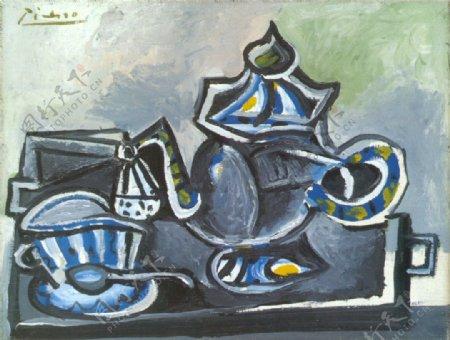 1953Th淇板eettasse西班牙画家巴勃罗毕加索抽象油画人物人体油画装饰画