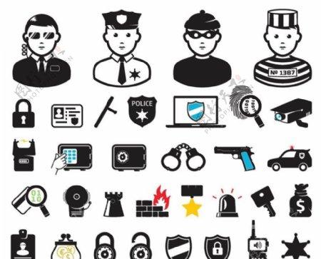警察图标图片