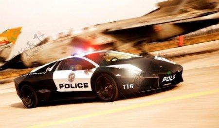 兰博基尼警察图片