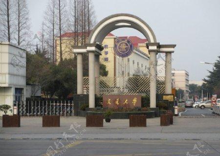上海交大伸缩门图片