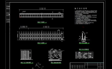 电动伸缩门专业CAD图图片