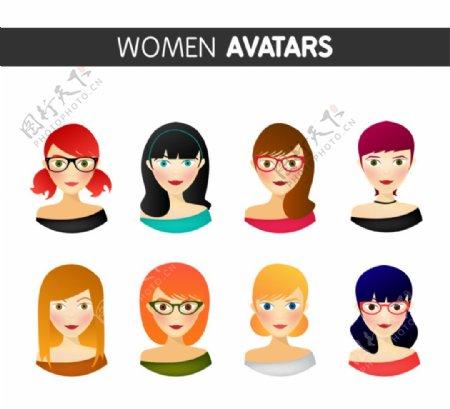 时尚女子头像图片