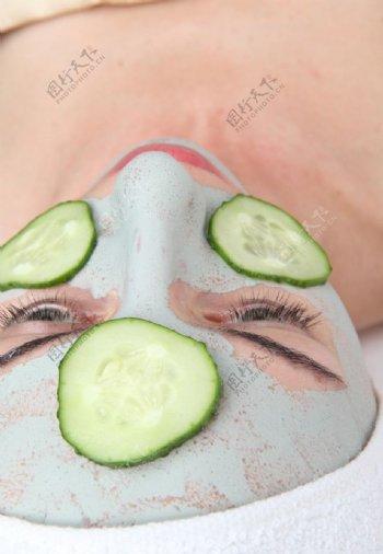 面部保养图片