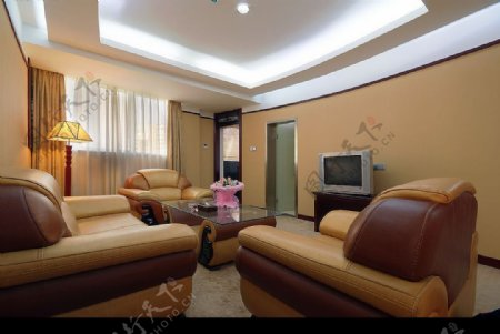 酒店的客房标准间大厅图片