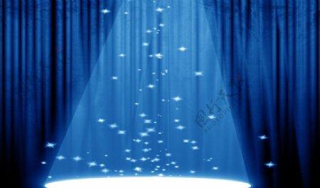 蓝色光芒灯光图片
