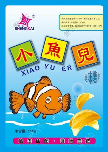 小鱼儿薯片图片