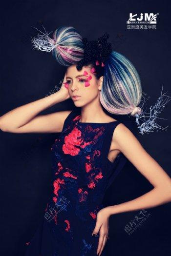 主流发型美容美发摄影图库图片