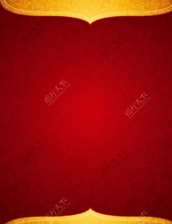红色底纹花纹背景图片