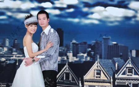 情侣爱的天堂人物图库人物摄影摄影图库俊男靓女青春纪念册图片