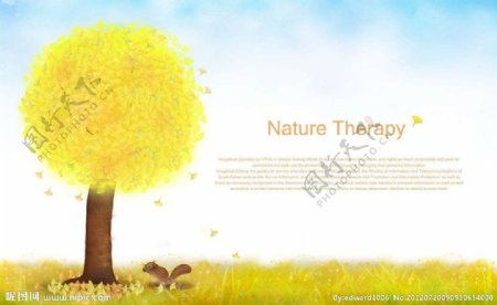 秋季大草原风景图片
