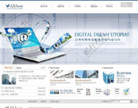 科技网站模板图片
