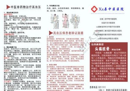 中医治疗高血压宣传单图片