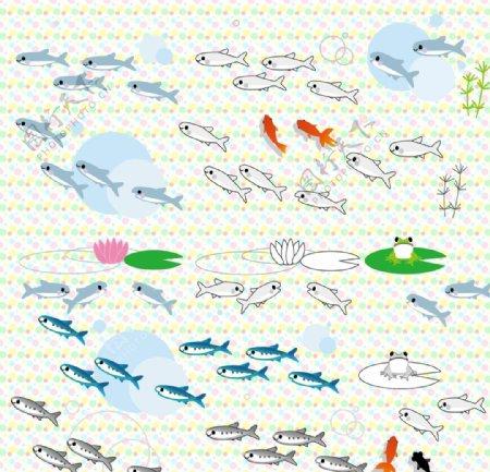 可爱快乐的小鱼儿图片