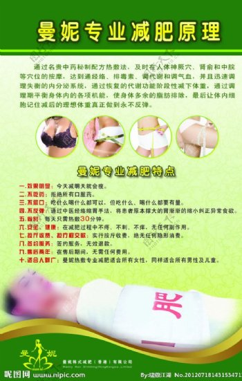 曼妮韩式减肥挂图图片