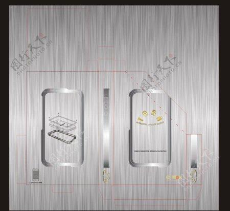 iphone4S手机保护框包装图图片