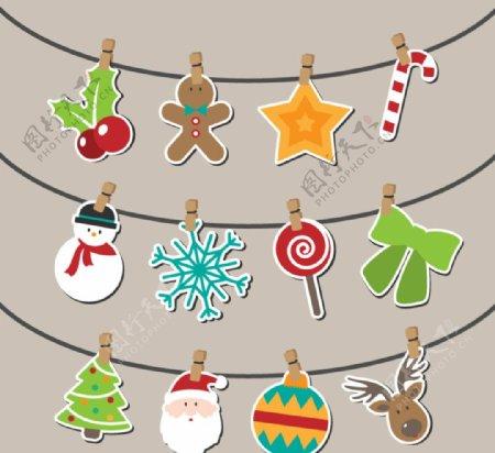 卡通圣诞挂饰圣诞树圣诞老