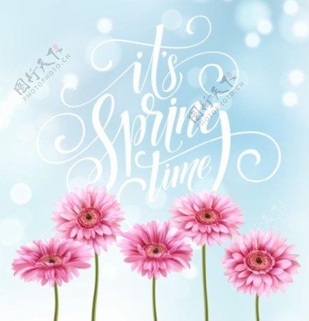 春天花背景