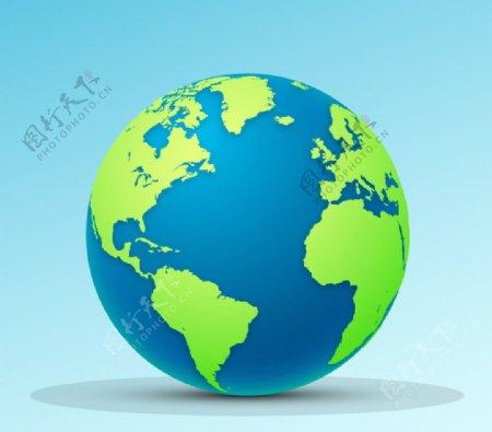 精美卡通蓝色地球矢量图