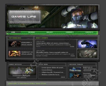 国外特种兵网页游戏页面设计
