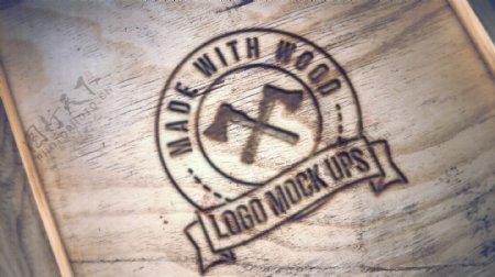 实木木刻烫印LOGO效果图模型