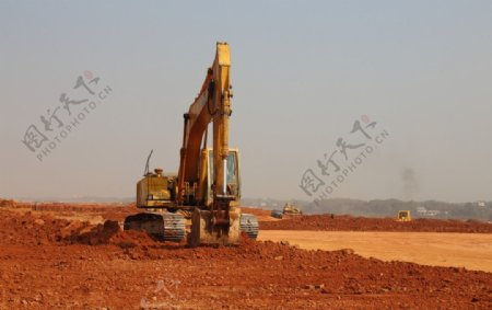 长沙黄花机场建设工地