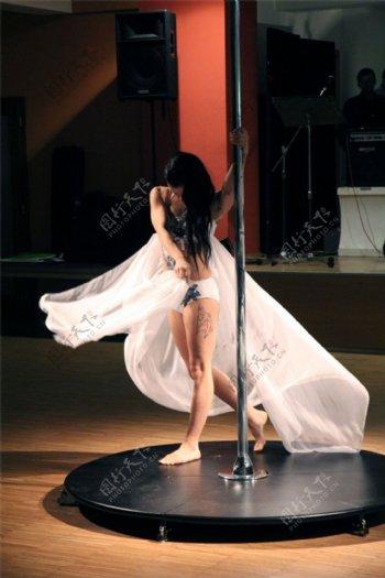 欧美钢管舞人体艺术图片