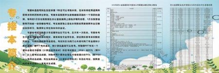 河北省专接本招生宣传展板原创展板下载