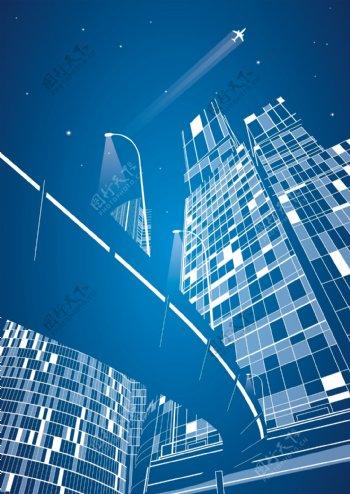 城市建筑线稿