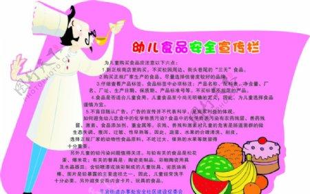 幼儿园食品安全宣传栏