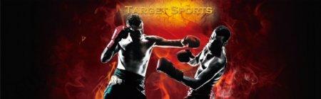 拳击手套海报