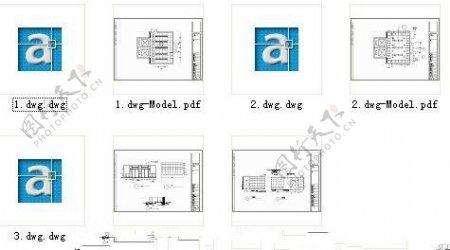CAD学校大门