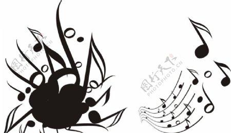 动感音符音乐素材