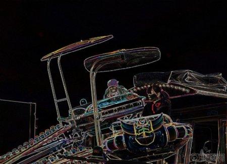 线条勾勒的乐器