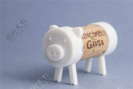 软木小猪3D打印模型