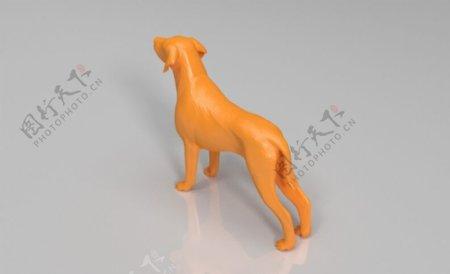 狗3D打印模型