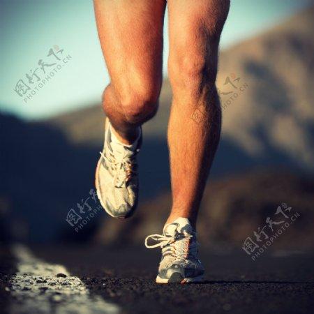 跑步的人物摄影