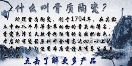 骨质陶瓷海报