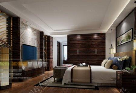 免费卧室空间3D模型素材