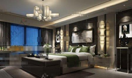 卧室空间素材3D模型素材