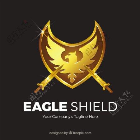 用剑雕金鹰的背景
