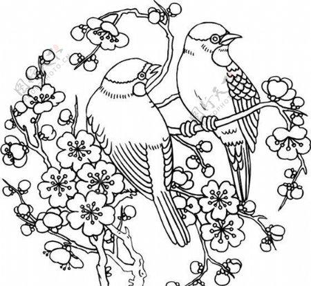 吉祥图案黑白中华传统矢量AI0058