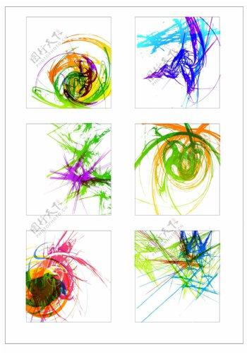 笔刷设计应用背景图案矢量素材AI格式0335
