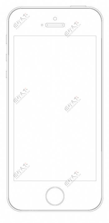 iPhone5s线稿