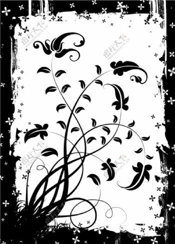 花纹素材边框背景