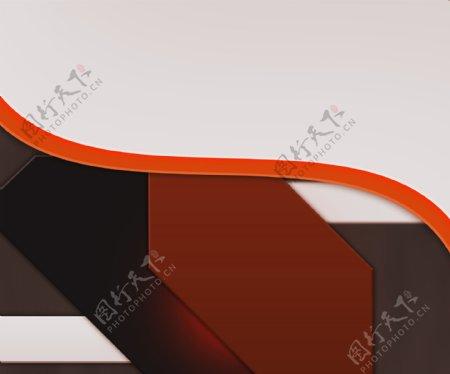 白色形状橙色背景