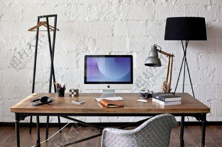 苹果iMac台式电脑办公场景样机