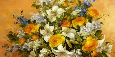 各种花朵背景墙素材